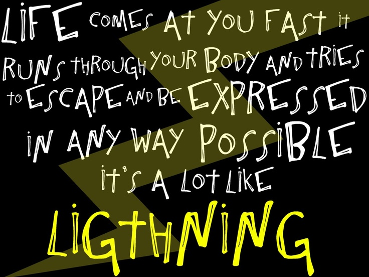 Movie  Quotes Lyrics  Quotes 3  Lightning Chris  Struck By Lightning    Struck By Lightning Movie Quotes