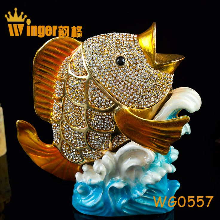 How To Make Decorated Fishing Urn Stunning 46 Best Fish Trinket Box Decoration Images On Pinterest  Decor Design Inspiration
