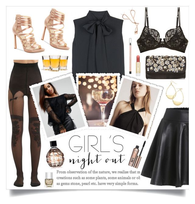 """Girls Night Out 🍸"" by linmari ❤ liked on Polyvore featuring Victoria Beckham, Chantal Thomass, Kendall + Kylie, rag & bone, Jessica Simpson, Jimmy Choo, Benefit, Paul & Joe, Maybelline and La Perla"