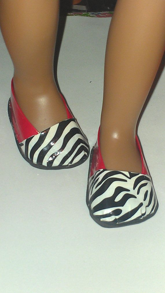 18inch Doll Red and Zebra Duct Tape Shoes by AwkinaSewN93 on Etsy, $4.50