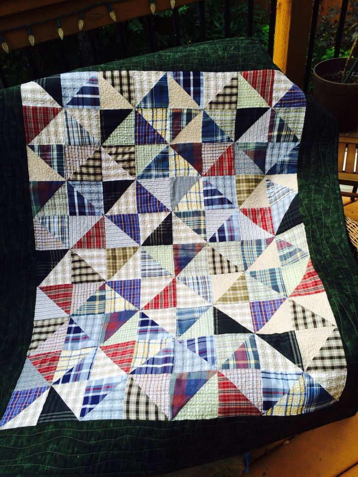 A Quilt Made With My Dad S Old Shirts For My Cousin Brenda