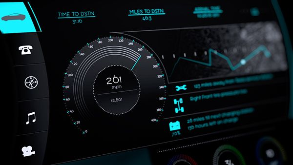 Car dashboard UI on Behance