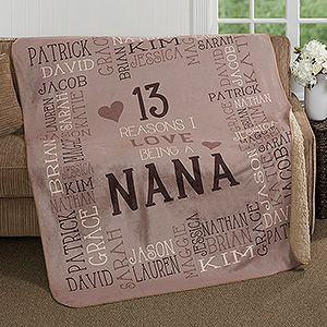 This is the perfect Christmas Gift idea for Grandma! You can personalize it with up to 30 names and you can add any title (Nana, Grandma, Grammy...) It comes in 3 different colors too! LOVE this gift idea for Nana!