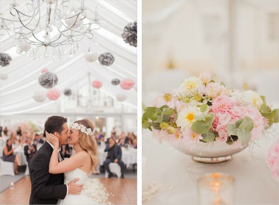 Swooning over this wedding's mix of modern and whimsical details. Photo by Peter & Veronika via Wedding Chicks
