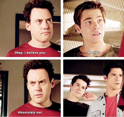 """Teen Wolf Season 04 Episode 12 """"Smoke and Mirrors"""" Season Finale. Stiles, Scott, and Liam and Coach"""