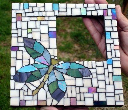Dragonfly mosaic frame