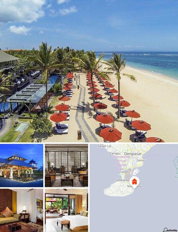 Cet hôtel de bord de mer donne directement sur le magnifique front de mer, dans la superbe localité de Nusa Dua qui jouxte le Bali Golf & Country Club. Les clients trouveront des magasins et une vie nocturne animée à Seminyak, à seulement 2 km de l'hôtel, tandis que le temple de Besakih est à 9 km. Compter 20 km pour se rendre à l'aéroport international Ngurah Rai.