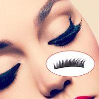 Caliente Sale10Pairs pestañas falsas naturales gruesa superior hechos a mano falso falso pestañas pestañas maquillaje