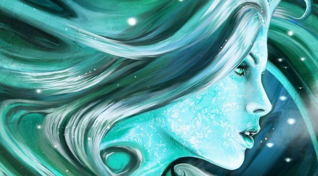 Girl Person Profile Wallpaper Hd Fantasy 4k Wallpapers Images Photos And Background Wallpapers Den Women Wallpaper Drawing Ocean Aqua Kiss Aqua blue wallpaper for girls