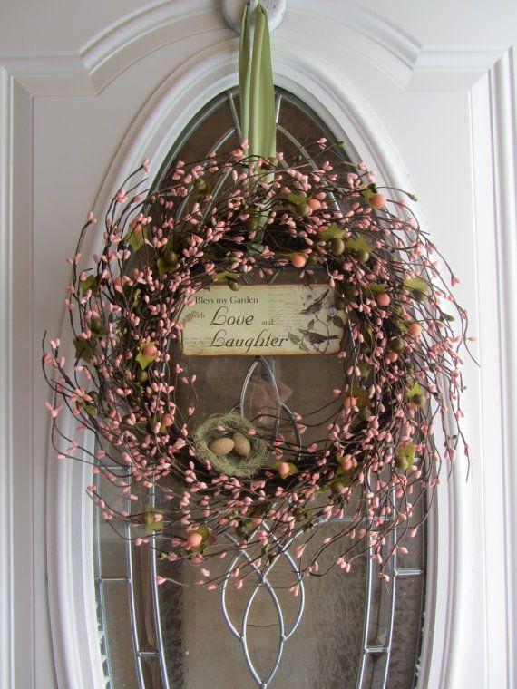 Spring Wreath  Easter Wreath  Birdnest by DoorWreathsByDesign, $64.95