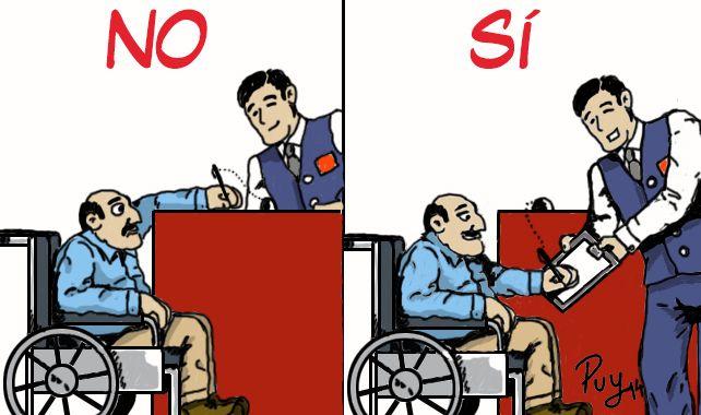 """Ilustración que acompaña el artículo """"El trato a bordo a personas con discapacidad"""", de Manuel Santamaría Barrios, para la revista MAR nº 544."""