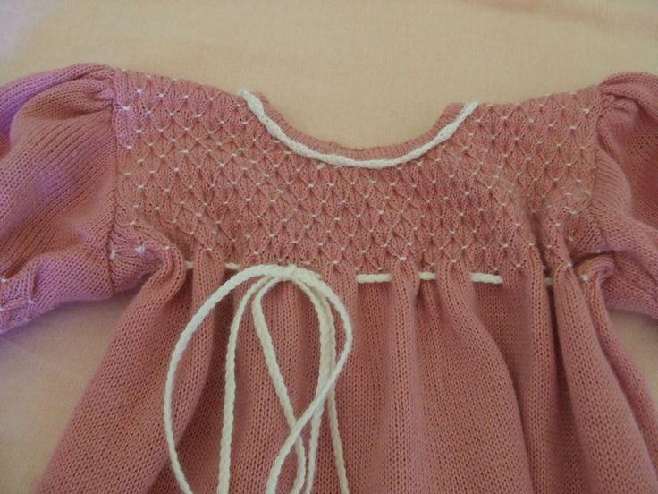 Abiti - vestito bimba ricamato cotone maglia - un prodotto unico di dorazimorena su DaWanda