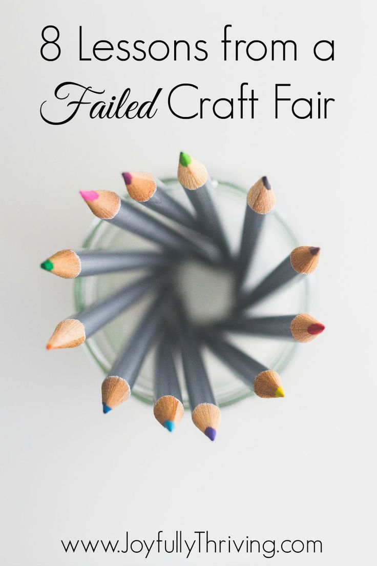Having a booth at a craft fair is hard work, so in the interest of helping others, here are 8 lessons I learned from a failed craft fair.