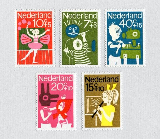 from 1964, a series of stamps depicting hobbies via present and correct