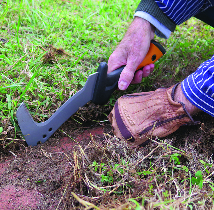 Cut back plants, divide perennials, weed around delicate areas and edge along brick walks easily with a lightweight billhook. This tool is compact and straps comfortably to your belt. Really helpful for chores in your yard or garden.