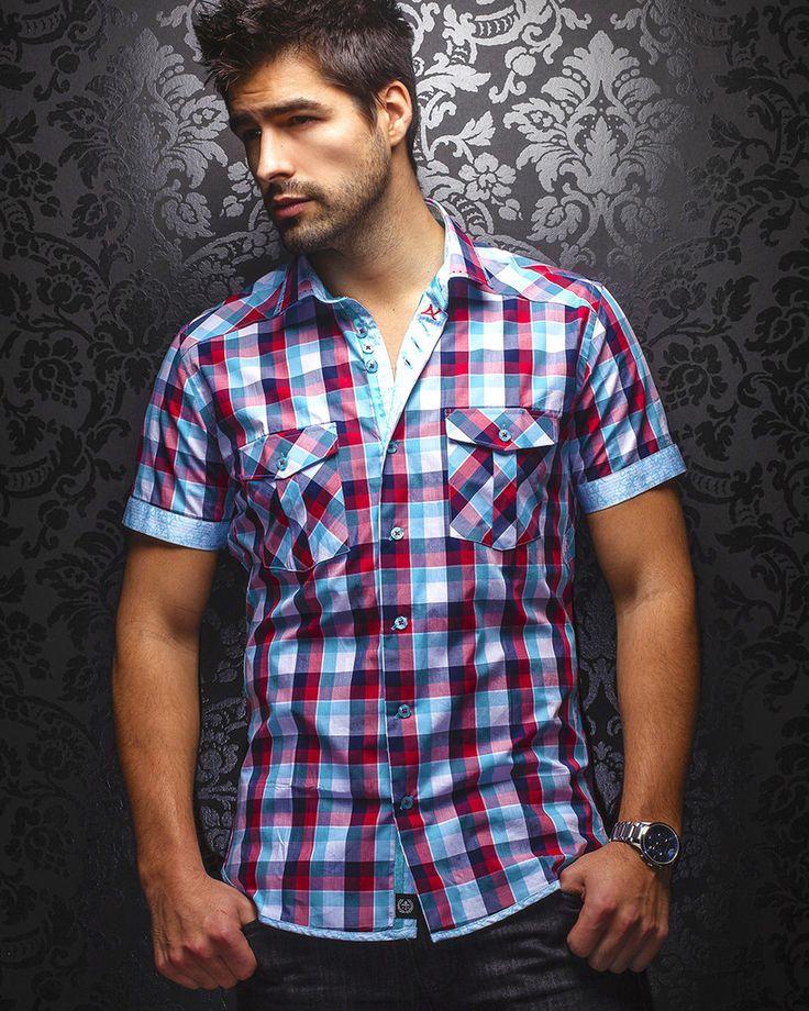 Au Noir Shirt - Luke - Turquoise