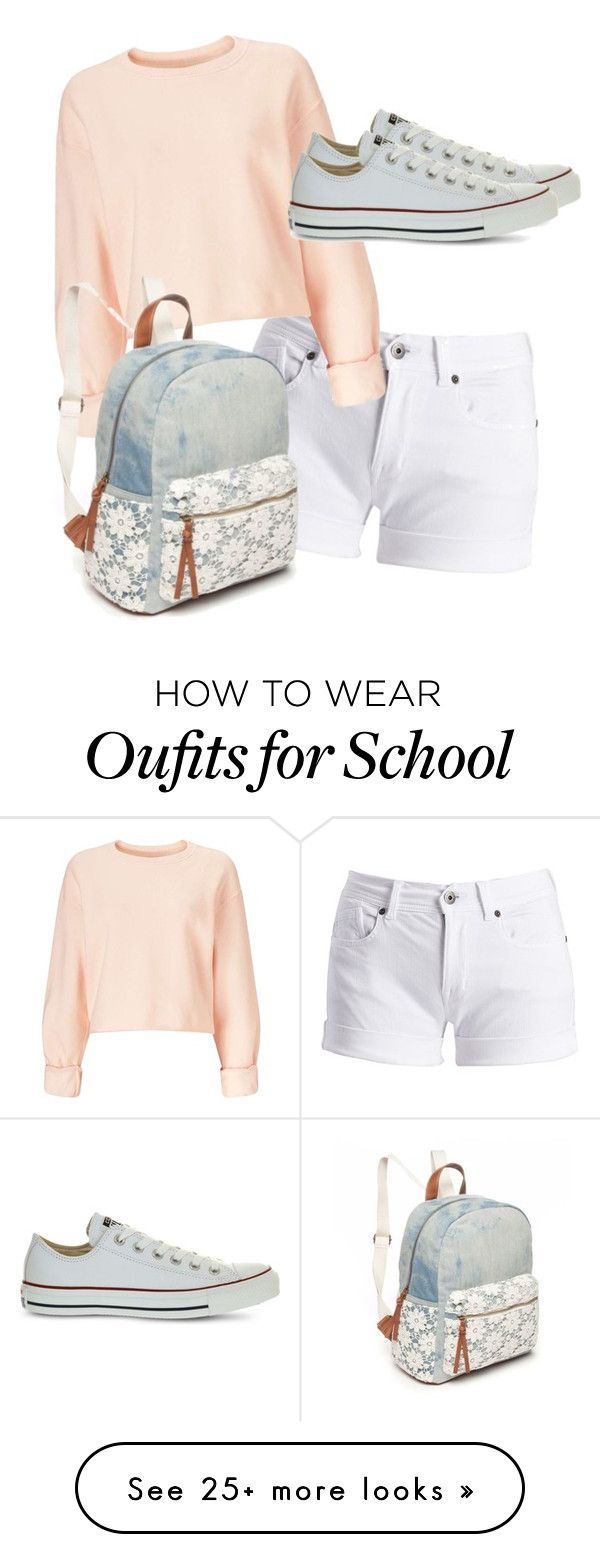 """School"" by lixzm on Polyvore featuring Barbour International, Miss Selfridge, Converse and Red Camel"