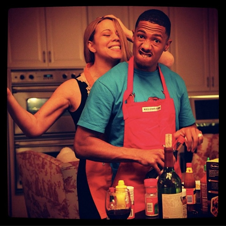 The cutest Thanksgiving ever! (Besides mine.) Mariah Carey and Nick Cannon.