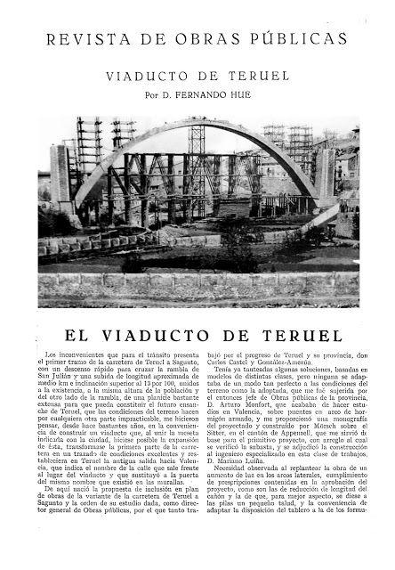Turoliense: El Viaducto de Teruel, 1928