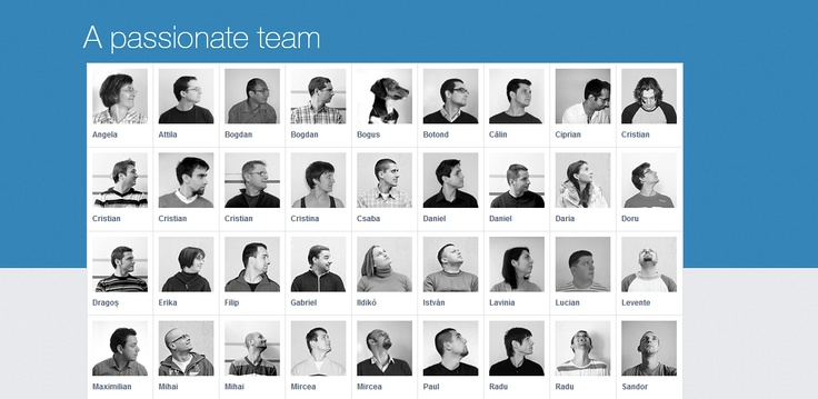 Lateral | About Us Interactive Team Page #animated