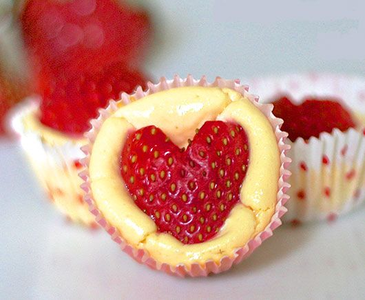 Quick and Healthy Desserts Recipes  - Strawberry Heart Cheesecake Bites - Click Pic for 34 Delicious Dessert Recipes