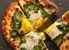 good way to get protein for breakfast- breakfast pita pizza