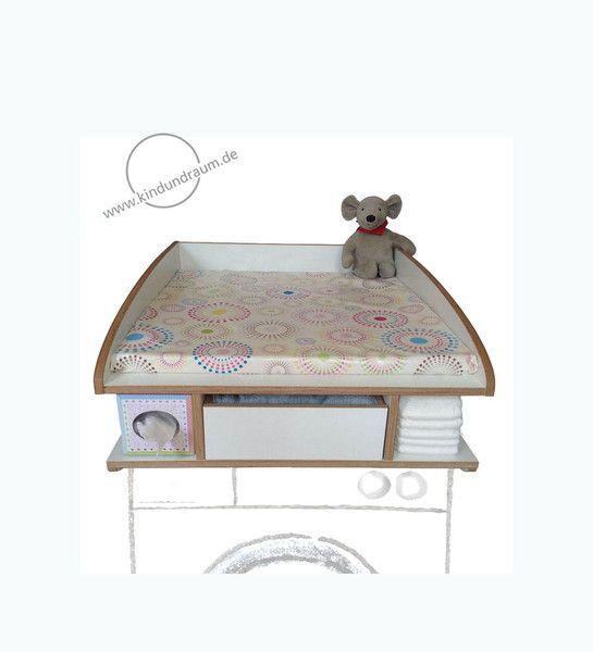 Wickelaufsätze - Wickelaufsatz mit Schublade und Stauraum: sumo - ein Designerstück von kindundraum bei DaWanda