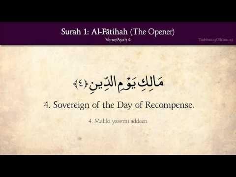 Quran: 1. Surah Al-Fatihah (The Opener): Arabic and English translation HD - YouTube