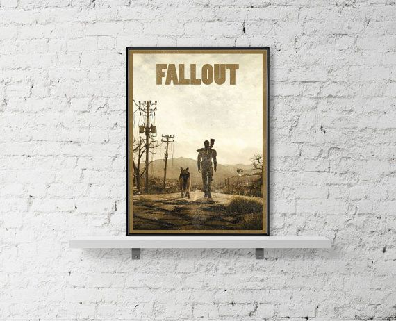 Fallout Inspired Art Poster Size A3 Video Game by BaydleCreative