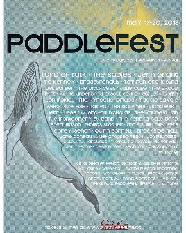 MAY 17-20 From @weaksizefish  Very stoked to be a part of this great festival in the best of all towns! . @standrewsbytheseanb @paddlefestnb #paddlefest2018 #standrewsbythesea #weaksizefish #wsf #musicnb #eastcoastmusic