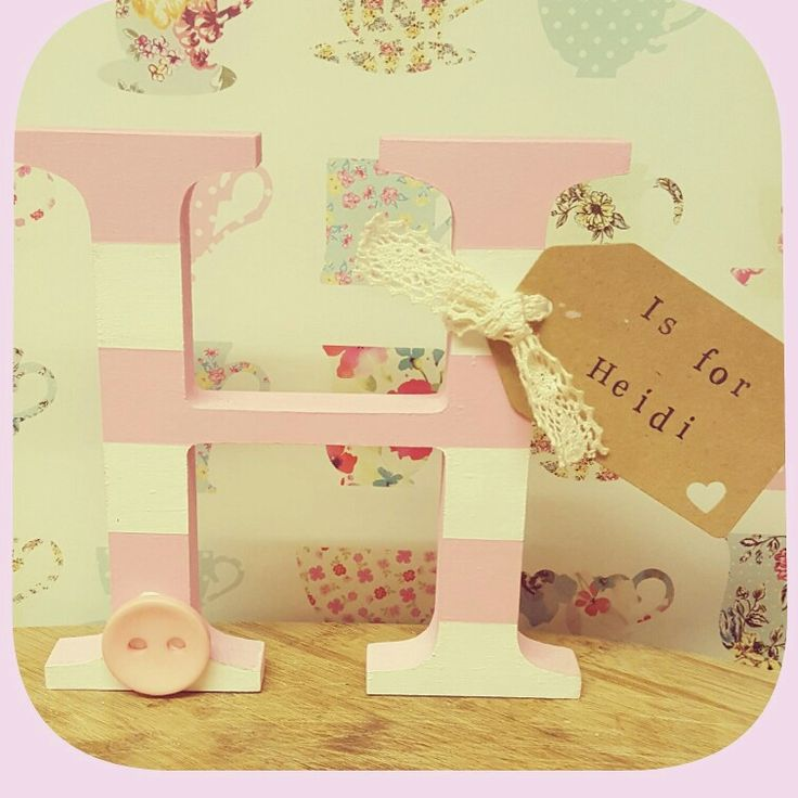 15 best personalised handmade baby gifts images on pinterest heidi personalised baby letter nursery decor negle Image collections