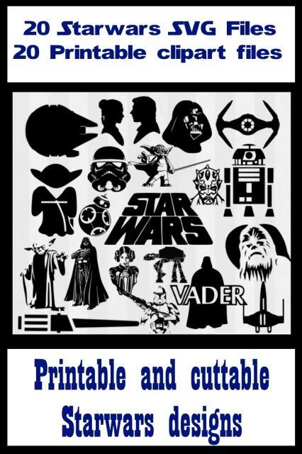 [Star wars SVG files and printable clipart Vector cutting files for silhouette cameo or cricut]