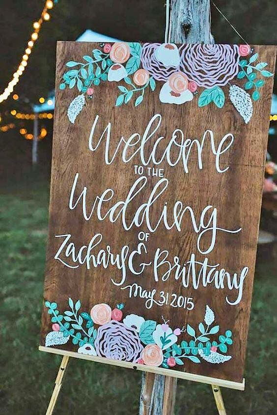 Get a cute sign/make a cute sign for the bridal shower!