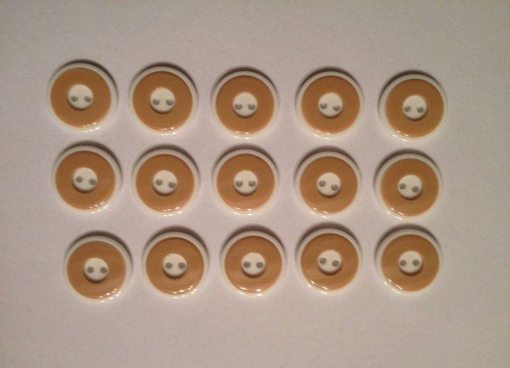 lot 15 marron couture scrapbooking mercerie buttons