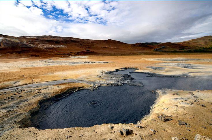 Námaskarð Pass in the Krafla volcanic region of north Iceland