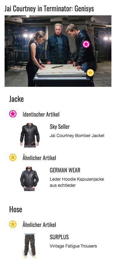 Einen ziemlich coolen Look verleiht die Lederjacke von Kyle Reese (Jai Courtney) seinem Träger. Das Modell im Schnitt einer Bomber Jacke wurde vom Hersteller extra für den Schauspieler angefertigt. So kommt das Kleidungsstück auch im Jahr 1984 gut an und lässt Kyle fast schon zum Trendsetter werden. Wenn er denn nur Zeit für Mode und Fashion hätte…