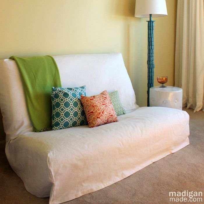 Tips for Sewing a Futon Slipcover ~ Madigan Made { simple DIY ideas }