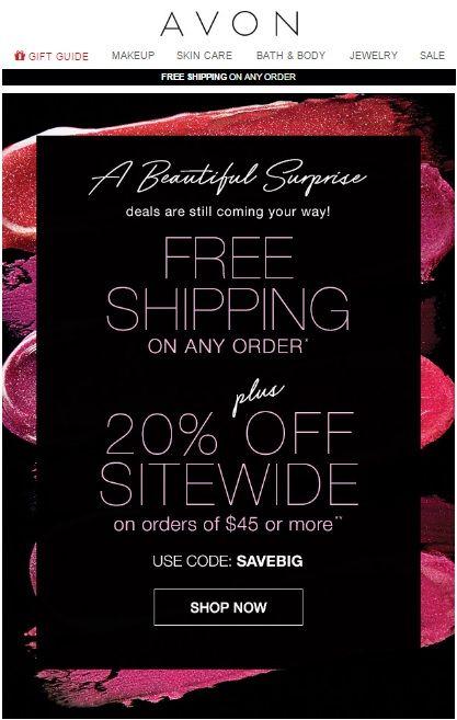 Avon coupon code november