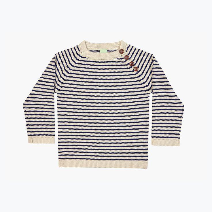 Thick Kids Sweater - Ecru/Navy - 3y-10y – MamaOwl