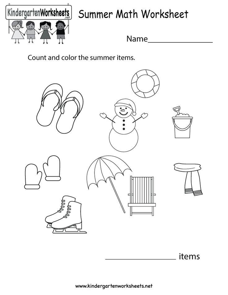 Summer Worksheets For Kindergarten : Best images about summer worksheets on pinterest