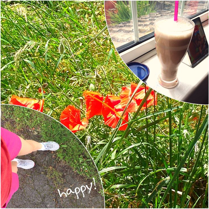Running and a big smoothie!