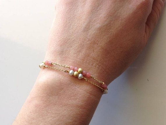 Two bracelets in one price Gold plated silver by PlusLoveStudio - 18.30 euro