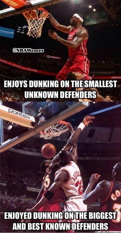 LeBron James vs. Michael Jordan! - http://hoopsternation.com/lebron-james-vs-michael-jordan/