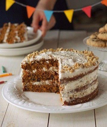 #tort marchewkowy z krokantem #bday #birthday #cake #carrotcake #delektujemy