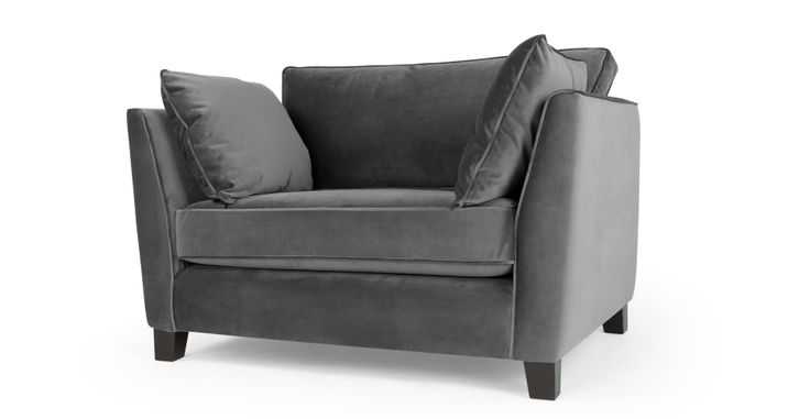 Wolseley love seat, Pewter Grey | made.com