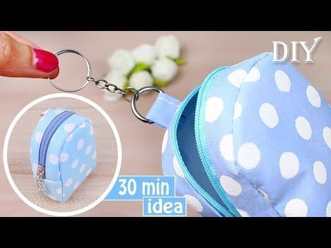 DIY GELDBEUTEL TUTORIAL | Schlüsselanhänger Idea 2018 Mini Bag Fast Making – YouTube