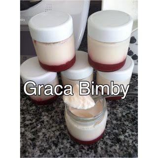 Bimby Truques & Dicas: Iogurtes com compota de morango