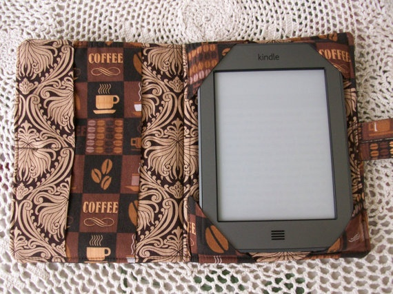 Coffee Themed E-Reader Cover