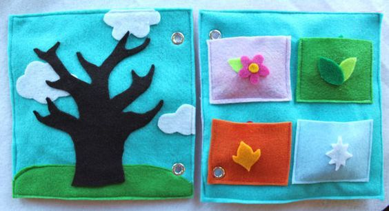 Custom Quiet Book Page Seasons  Double by RoseInBloomCreations