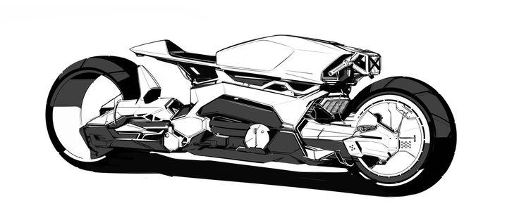 ArtStation - Concept Motorcycle Sketch, Benjamin Last